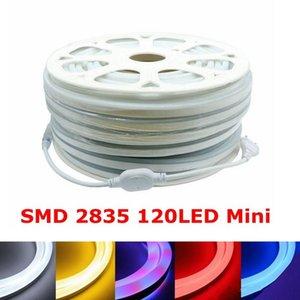 Edison SMD2835 Mini Soft Neon sign Light 220V 120Led M Flexible Strips Led Neons Tube Strip High Bright 8 Colors
