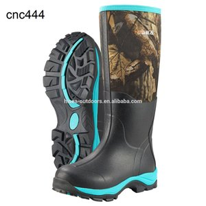 Women's Camo Hunting Waterproof Insulated Rubber Neoprene Muck Boots