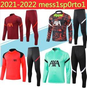 2020/21 liverpool chándal kits de la chaqueta del juego de fútbol 2020 veste de fútbol 2021 chaquetas de cremallera ful conjunto