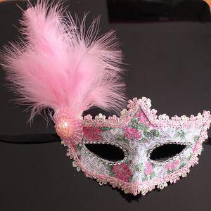 Venetian Lace Feather Eye Beautiful Princess Sexy Actuaciones Halloween Mascarada Máscaras Party DurnoClub Maske907