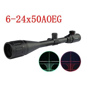 Riflescope 6-24x50AOEG Adjustable Illuminated Tactical Rifle Scope Reticle Optical Sight Scope for Hunting