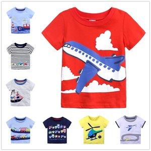 Aereo Little Boy T Shirt Baby Boys T-shirt T-shirt Estate Toddler Tshirt Boy Bambini Top 100% Cotton Tee Shirt Jersey Camicette 1-6Year 210413