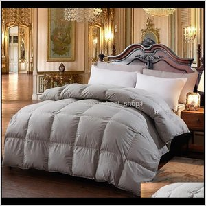 Comforters Sets Bedding Supplies Textiles Home Garden Drop Delivery 2021 Comforter For Winter Autumn Insert Blanket Filling Feather Down Quil
