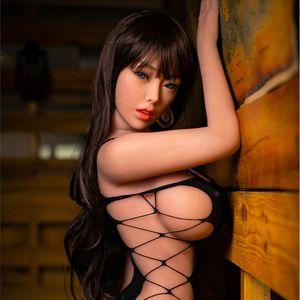 Half Closed Enjoy Orgasmic Real Face Love Doll Sexy Tpe 158cm Big Breast Tan Silicone Sex Dolls For Men