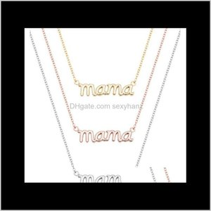 Pendant & Pendants Jewelry Drop Delivery 2021 10Pcs Small Mama Mom Mommy Letters Necklace Stamped Word Initial Love Alphabet Mother Necklaces