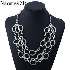 Naomy&ZP Brand Multi-layer Vintage Necklace For Women 2021 Big Boho Statement Collar Punk Wholesale Fashion Jewelry Chokers