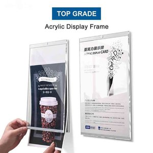 A4 Magnetic Wall Mounted Poster Display Menu Sign Holder Acrylic Poster Picture Photo Frame Board For Office Decoration