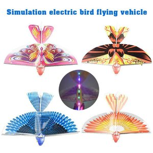 Colorful LED Light Electric Simulation Flying Bird Stunt Kites Airplane Plane Helicopter Flapping Wing Kids Outdoor Sports Interactive Toys Gifts