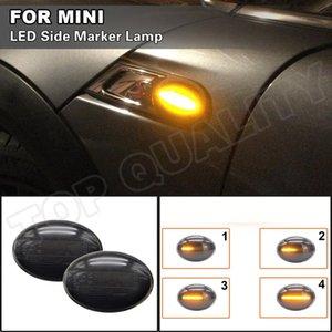 Emergency Lights For Mini Cooper R55 2006-2014 R56 R57 R58 R59 Car Amber LED Dynamic Turn Signal Light Side Marker Arrow Blinker Lamps