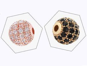 8mm azorite bead DIY ornament Micro diamond set round hand beads Stylishly designed hand-beaded ornaments Fine and inexpensive arts CCF6099