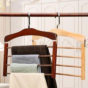Hangers & Racks Wardrobe Clothes Organizer Pants Hanger Closet Trouser Jeans Scarf Storage Perchas Para Pantalones Wood Magic