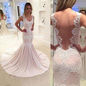 Sleeveless Women's 2021 Open New Back Lace Wedding Bridesmaid Evening Dress