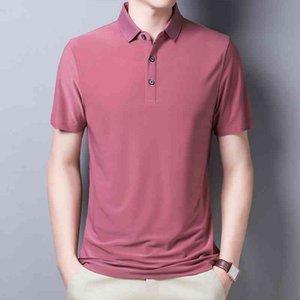Polo ymwmhu moda uomo manica corta manica corta Top Streetwear maschile Casual Solid Shirt Shirt Hipster