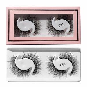 Thick Natural 3D Fake Eyelashes 2 Pairs Set Crisscross Soft & Light Handmade Reusable False Lashes Extensions Eyes Makeup Accessory For Women Beauty 10 Models DHL
