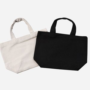 2 Size White black Blank pattern Canvas Shopping Bags Eco Reusable Foldable Shoulder Bag Handbag Tote Cotton Tote Bag