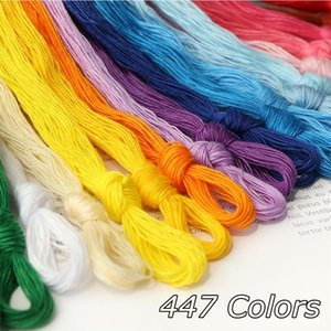 447 Colors Embroidery Threads Cross Stitch Cotton Threads Floss Sewing Skeins DIY Needlework Crafts Stitching Tool Random Colors