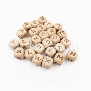 Bite Bites 10PCS Wooden Letter Alphabet Baby Teether DIY Teething Pacifier Chain Nursing Necklace Bracelet Baby Gift Teether Toy 872 X2