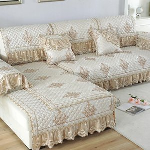 Europe Sofa Covers for Living Room Sectional Slipcover Luxury Lace Decor Corner Sofa Cover Towel Home Furniture Protector Case