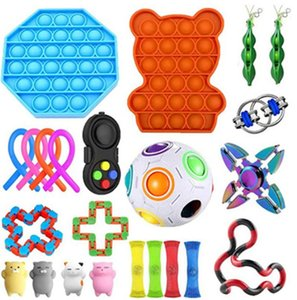 Go Band Fidget Toys Anti Stress Set Stretchy Strings Pop It Popit Gift Pack Adults Children Squishy Sensory Antistress Relief Figet Toys pop