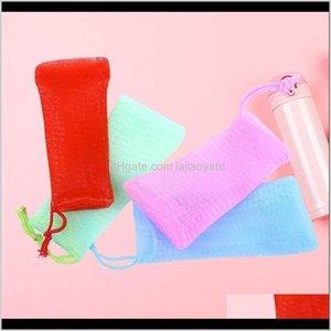 Laundry Bags 4Pcs Colorful Exfoliating Saver Pouch Bubble Foam Net Handmade Soap Mesh Bag Facial Cleaning Netting Random Color Wmtxbc Fj2Oq