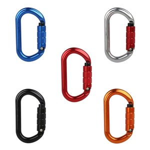 Cords, Slings And Webbing 448D 25KN Climbing Carabiner O Shape Safety Auto Master Screw Lock Hook Outdoor Mountaineering Caving Rock Buckle