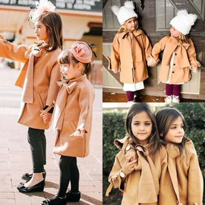 New Winter Autumn Toddler Kids Baby Girls Coat Warm Wool Bowknot Trench Coat Overcoat Girls Kids Long Sleeve Outwear Jacket 916 Y2