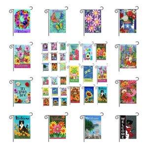 45*30CM linen material Garden flag courtyard Flags welcome yard Banner Spring summer GWA8674