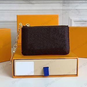 KEY POUCH M62650 POCHETTE CLES Luxurys Designers Womens Mens Wallet Keys Ring Credit Card Holder Coin Purse Luxury Mini Clutch Bag Charm Brown Monograms Canvas