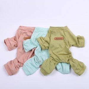 Dog Cat Striped JumpSuit Pajamas Pet Puppy Tracksuit Nightshirt T-Shirt 5 Sizes 3 Colours Apparel
