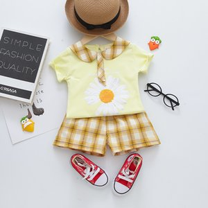Clothing Sets 2021 Children's Short Sleeve Girls' Set Summer 0-4 Year Old Baby Two Piece Cartoon Pullover