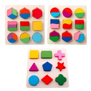 Wooden Geometric Shapes Sorting Math Puzzle Preschool Learning Educational Game Baby Toddler Toys for Children DS19