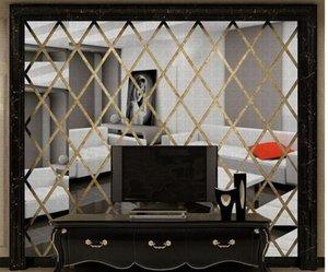 DIY 3D 거울 벽 스티커 아크릴 아트 침실 거실 홈 장식 데칼 벽화 탈착식 모드 BBYZRD BDESPORTS