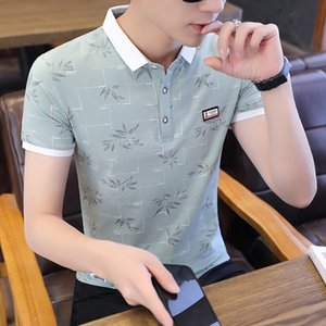 Luxury T-shirts 2021 Summer Short T-shirt Korean Brand. Half Sleeve Body Lapel Polo Upper Cloth Men's Fashion