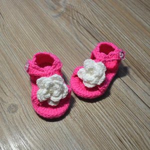 First Walkers QYFLYXUEQYFLYXUE-Crochet Baby Shoes,crochet Booties,Baby Ballerina Slippers,girl Christening Shoes,white Toddler Shoes