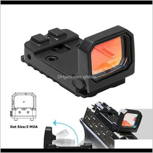 Scopes Accessories Tactical Gear Drop Delivery 2021 Vism Reflex Red Dot Pistol Rmr Mini Folding Holographic Sight For Airsoft 7Kcvs
