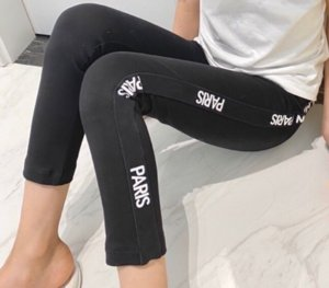 Kids Trousers Breathable Girl Pants Knee-Length Letter Print Fashion Trousers Children Pants