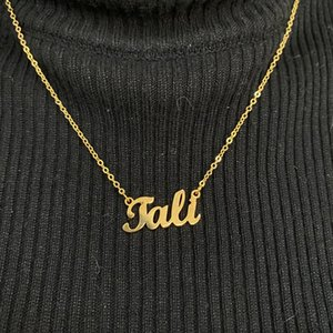 Stainless Steel Jewelry Personalize Name Pendant Necklace Custom Numbers For Christmas Gift Necklaces