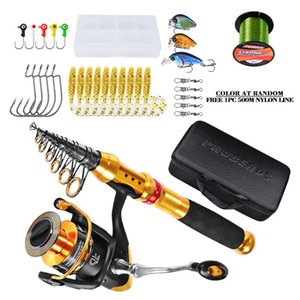 Fishing Gear Set Rod And Reel Combos Carbon Fiber With Combo Sea Saltwater Freshwater Kit Accessories
