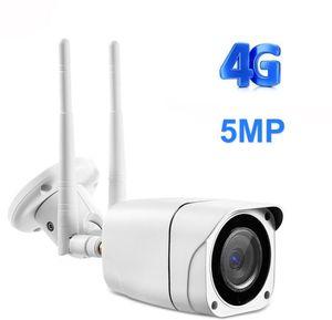 4G SIM Card IP Camera 1080P 5MP HD Wireless WIFI Outdoor Security Bullet CCTV Metal P2P Onvif Two Way Audio Camhi