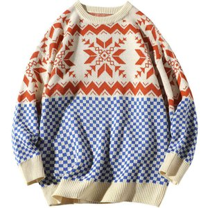 Man winter sweater Thick Pullover print o-neck mens winter sweater