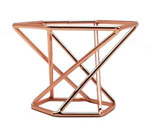 حديقة ديكورات هندسية حامل الهواء حامل ديكور الحديثة الذهب terrarium الطاولة المنزل هدايا الزفاف النفخة ماكياج الإسفنج خلاط