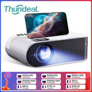 ThundeaL TD60 Mini Projector Portable WiFi Android 6.0 Home Cinema for 1080P Video Proyector 2400 Lumens Phone Smart 3D Beamer 210609