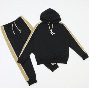 2021 Mens Womens Eşofman Tişörtü Takım Elbise Erkekler Parça Ter Suit Mont Adam Tasarımcı Hoodies Pantolon Mektuplar Baskı Spor Yüksek Kalite
