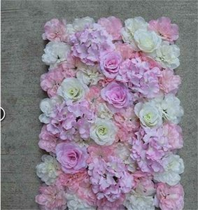 Artificial Rose 40x60cm Customized Colors Silk Rose Flower Wall Wedding Decoration Backdrop Artificial Flower Wall Romantic EEA1587 524 R2