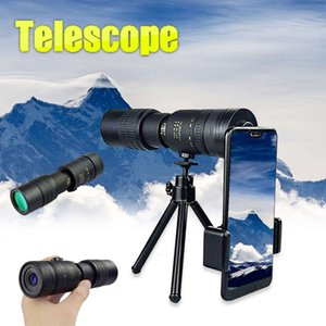 4K 10-300X40mm Super Telephoto Zoom Monocular Telescope with BAK4 Prism Lens for Beach Travel Outdoor Activities Sport
