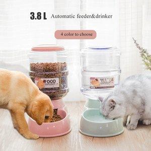 Animaux d'eau Distributeur d'eau Alimentations automatiques pour chats et chiens Bol à nourriture CATS Produits pour Fontaine en plastique Fountain Fountain Fournitures pour animaux de compagnie 210419