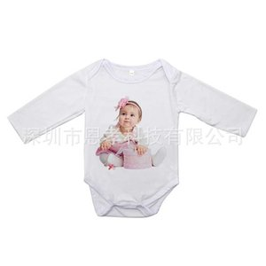 Thermal Transfer Printing Baby Jumpsuits Blank Heat Tranfer Long Sleeve Kids Infants One-pieces Bodysuit Autumn Winter Children's Clothes H918VFZE