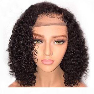 Brazilian Curly Lace Front Bob Wigs Baby Hair Glueless Preplucked Brazilian Remy Hair Curly Lace Front Short Bob Human Hair Wig