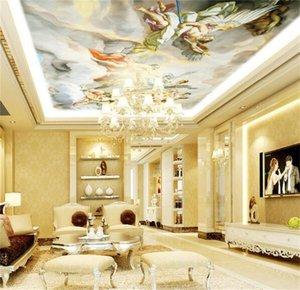 Mural Ceiling European Style Angel Zenith Mural mural 3d wallpaper 3d wall papers for tv backdrop 1453 V2