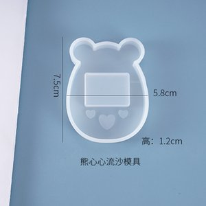 Kawaii Bear Shaker Charm Silicone Mold Cute Animal Mould Resin Jewellery keychain Making Shake Shake Decoden Cabochon DIY 1459 Q2